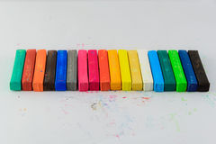 Övre isolerade färgblyertspennor för slut Royaltyfria Bilder