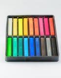 Övre isolerade färgblyertspennor för slut Fotografering för Bildbyråer