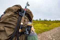Övre ryggsäck för slut arkivfoton