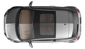 Övre sikt av den stilfulla kompakta bilen Arkivbild