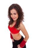 Övre sikt av en kvinnadansare Royaltyfri Fotografi