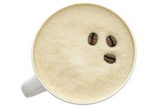 Övre sikt av ett kaffe Arkivbilder