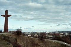 Övre sikt av Gdansk Arkivbild