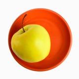 övre sikt för äppleplatta royaltyfri fotografi