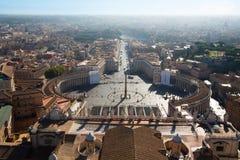 övre sikt för basilicapeter rome s st Arkivfoto
