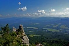 övre sikt för berg Arkivfoton