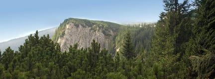 övre sikt för bergpanorama Royaltyfria Bilder