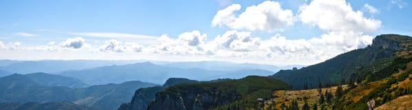 övre sikt för bergpanorama Royaltyfri Bild