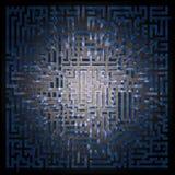 övre sikt för blå labyrintmaze Royaltyfria Bilder