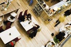 övre sikt för cafe Royaltyfri Bild