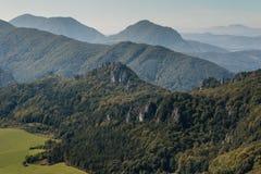 övre sikt för carpathian berg Royaltyfri Fotografi