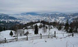 övre sikt för carpathian berg Arkivbild