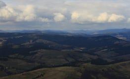 övre sikt för carpathian berg Royaltyfri Bild