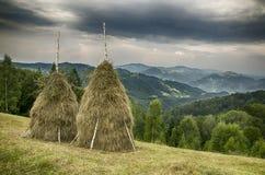 övre sikt för carpathian berg ukraine royaltyfri bild