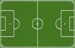 övre sikt för fältfotboll Arkivbilder