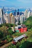 Övre sikt för Hong Kong berg Royaltyfria Foton