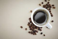övre sikt för kaffekopp Arkivbild