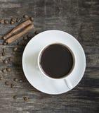 övre sikt för kaffekopp royaltyfria foton