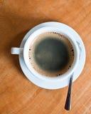 övre sikt för kaffekopp Fotografering för Bildbyråer
