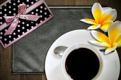 övre sikt för koppespresso Arkivbilder