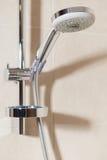 Övre sikt för slut av duschhuvudet arkivbild