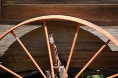Övre sikt för slut av en gammal vagn Royaltyfria Foton