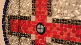 Övre sikt för slut på mosaikhelgedomkors lager videofilmer