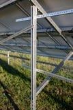 Övre sikt för slut på ramar för solpaneler Arkivbilder