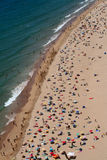 övre sikt för strand Fotografering för Bildbyråer
