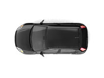 övre sikt för svart bilhatchback Arkivbilder