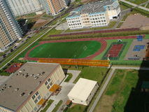 övre sikt för tom stadion Royaltyfri Fotografi