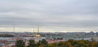 övre sikt St Petersburg Arkivfoton