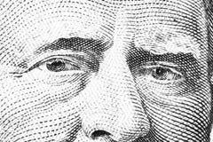 Övre siktsstående för slut av Ulysses S Lån på den en räkningen för dollar femtio Bakgrund av pengarna räkning för dollar 50 med  arkivbild