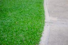 Övre stengångbana och gräs för slut Arkivfoto