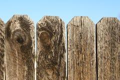 övre trä för staket royaltyfri bild