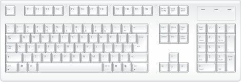 övre veiw för tangentbord vektor illustrationer