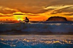 övre wave Royaltyfri Fotografi