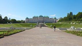 ÖvreBelvedere i Wien royaltyfria foton