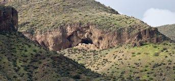 ÖvreCliff Dwelling på Tonto den nationella monumentet royaltyfri fotografi