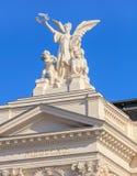 Övredel av den Zurich operahusbyggnaden Fotografering för Bildbyråer