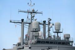 Övredel av en krigsskepp Arkivfoto
