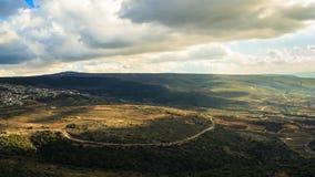 ÖvreGalilee berglandskap Arkivfoto