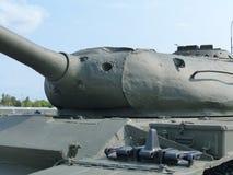 ÖvrePyshma, Ryssland - Juli 02, 2016: Sovjetisk ändring för medelbehållare T-54B 1956 - utställning av museet av militär utrustni Arkivfoto
