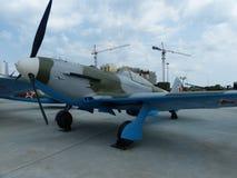ÖvrePyshma, Ryssland - Juli 02, 2016: Sovjetisk kämpe Yak-9U, prövkopia 1944 Royaltyfri Foto