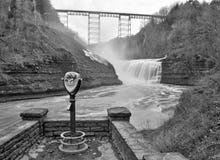 Övrevattenfall av den Genesee floden royaltyfri fotografi