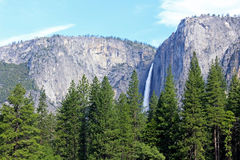 ÖvreYosemite nedgång Yosemite, Yosemite nationalpark Arkivbilder