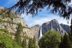 ÖvreYosemite nedgång Yosemite, Yosemite nationalpark Arkivfoto