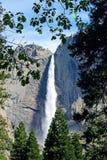 ÖvreYosemite nedgång Yosemite, Yosemite nationalpark Fotografering för Bildbyråer