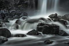 Öxarárfoss small waterfall Stock Image
