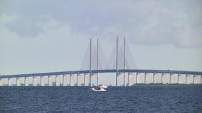 Øresund Bridge stock video footage
